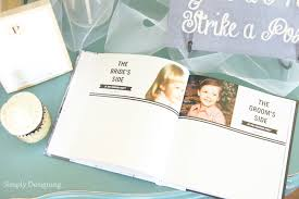 Wedding Sign In Book Rustic Glam Wedding Photo Booth