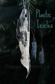 plastic icicle ornaments for to make happy hooligans