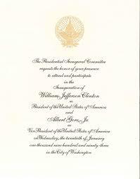 Inauguration Invitation Card Sample File Inaugural Invitation 1993 Jpeg Wikimedia Commons