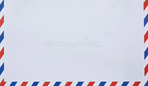 envelope border pattern envelope with red and blue on border in white background stock image