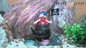 pirate in the barrel air aquarium decoration ornament 0 97