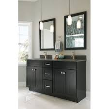 Shaker Style Bathroom Cabinets by Contemporary Black Shaker Door Bathroom Cabinet With Two Mirrors