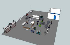 factory layout design autocad modeling workflow to design a new shop layout