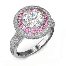 sapphire halo engagement rings halo engagement ring pink sapphire of