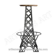 Mango Wood Bar Stools Eiffel Tower Metal Finished Solid Mango Wood Top Bar Stool Vintage
