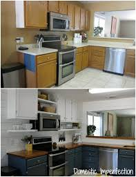 Small Kitchen Remodel Before And After Farmhouse Kitchen On A Budget The Reveal Domestic Imperfection