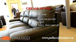 how to remove stains from a leather couch youtube