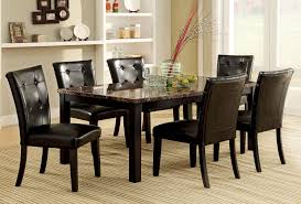 faux marble dining room table set 7 pc dining room table set with faux marble top espresso marble