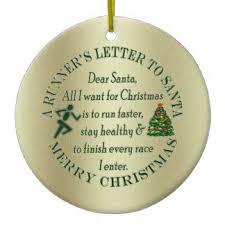 funny runners letter to santa ornaments u0026 keepsake ornaments zazzle