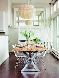 Acrylic Dining Room Tables Dinning Rooms Lovely Chic Dining Room With Wood Dining Table And