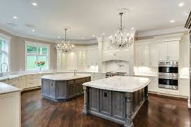 kitchen with two islands gorgeous contrasting kitchen island ideas pictures designing idea