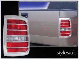 2004 f150 tail lights f150 styleside chrome tail light bezels 2004 2005 2006 2007 2008