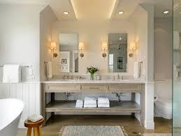 burlington farmhouse bathroom vanity with cove lighting