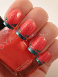 i feel polished fun french nails