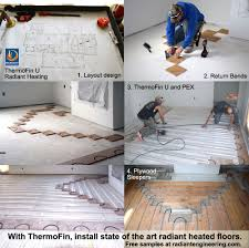 In Floor Heating Under Laminate Thermofin Extruded Aluminum Heat Transfer Plates Are The State Of