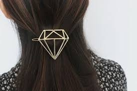 hair barrette diamond hair clip diamond hair barrette boho hair clip geometric ha