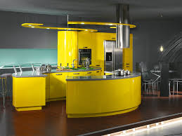 Modern Open Kitchen Design Yellow Colored Kitchen Design Ideas Outofhome