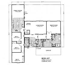 4 5 Bedroom Mobile Home Floor Plans by Kabco 28x60 4 Bedroom 3 Bedroom Ranch Floor Plans Large 3 Bedroom