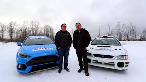 rally subaru snow ford focus rs vs subaru sti video motor1 com photos