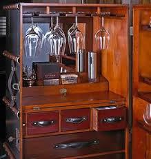 Steamer Bar Cabinet Authentic Models Black Trunk Stateroom Traveling Bar U0027decor