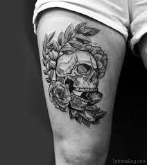 97 best skull tattoos on thigh