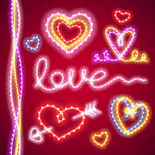 valentines day lights valentines day elements with lights vector vector heart