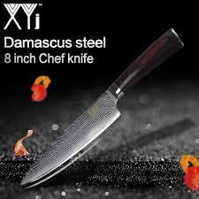 marque de couteaux de cuisine xyj marque cuisine couteaux 8 pouce en acier damas chef couteau