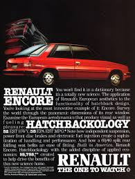 1984 renault alliance 1984 renault encore ad classic cars today online