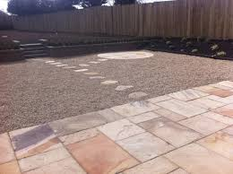 How To Design A Patio Area Large Garden Design A Large Garden With A Sandstone Patio