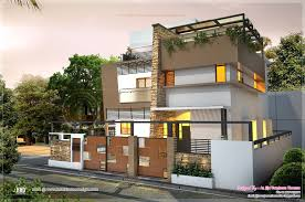 awesome contemporary residence in 2000 sq feet kerala home