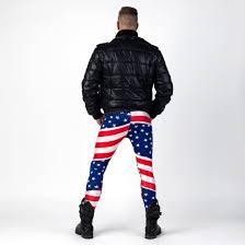 Flag Clothing American Flag Meggings Alternative Meggings Man Clothing