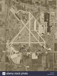 Chicago Ord Map by Historical Aerial Photograph Chicago O U0027hare Airport Ord 1951 Stock