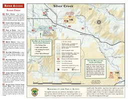 Idaho State Map by River Access Maps Silver Creek