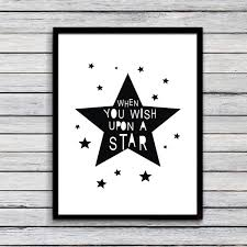 Wall Art For Kids Room by Aliexpress Com Buy When You Wish Upon A Star Printable Canvas