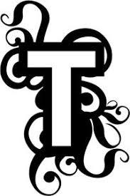 monogram letter t monogram