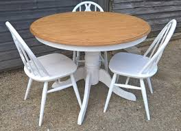 shabby chic round dining table beautiful round oak dining table farrow ball all white free