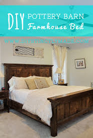 Farmhouse Bed Frame Plans Diy Pottery Barn Farmhouse Bed Diystinctly Made