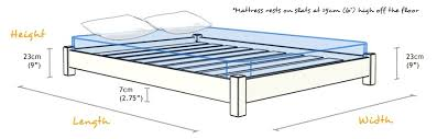 King Bed Frame Measurements Bed Frame Measurements Na Ryby Info