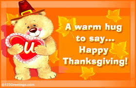 hugging you on thanksgiving free family ecards greeting cards