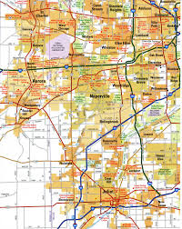 Map Of Chicago Il by Highways Of North Chicago Cityfree Maps Of Us