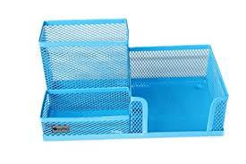 aqua blue desk accessories amazon com easypag mesh desk accessories organizer office supply