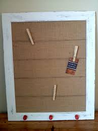 Cork Board Decorative Frame This Is An Off White Wooden Frame That Has Been Stained Painted