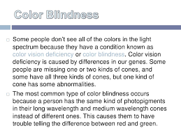 Most Common Type Of Color Blindness Come To Your Senses