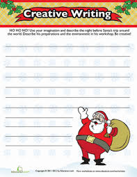 christmas descriptive writing worksheets prompts and writing