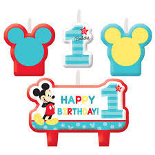 american mickey mouse 1st birthday candles 4 count ebay