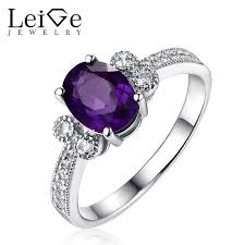 amethyst wedding rings leige jewelry amethyst wedding ring oval cut 925 sterling silver