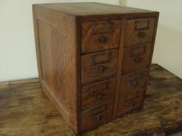 antique oak library card catalog 8 drawer file recipe box photo