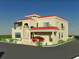 60 U0027 X 100 U0027 Wapda Town 1 Kanal House Design 3d Front Elevation In