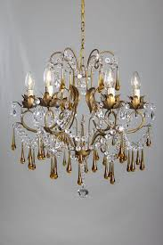 Amber Chandelier Antique Italian Chandelier With Amber Colored Drops