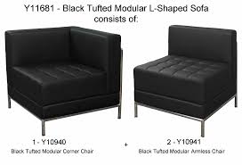 Black Tufted Sofa by Tufted Modular L Shaped Sofa